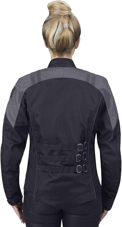 Viking Cycle Ironborn Armored Mesh Motorcycle Textile Biker Jacket for Women