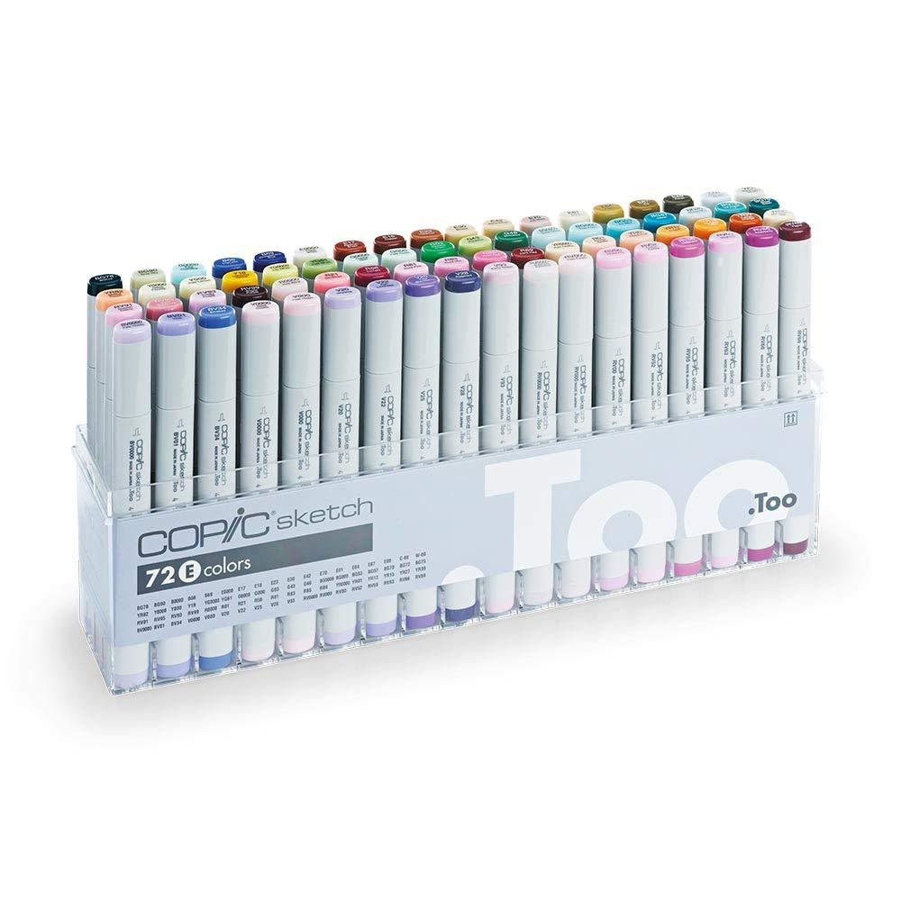 Copic Marker 72-Piece Sketch Set, E (S72-E)