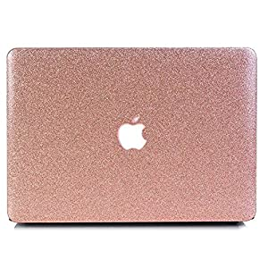 """MacBook Pro 15"""" Retina Case (A1398),Tip-top Bling Artificial Crystal White Stone Zircon Diamond Rubberized Hard Case Cover for MacBook Pro 15"""" with Retina Display-Bling-Rose Gold"""