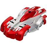 TONOR 4CH Remote Control RC Wall Climbing Climber Rocket Toy Car Racer Red