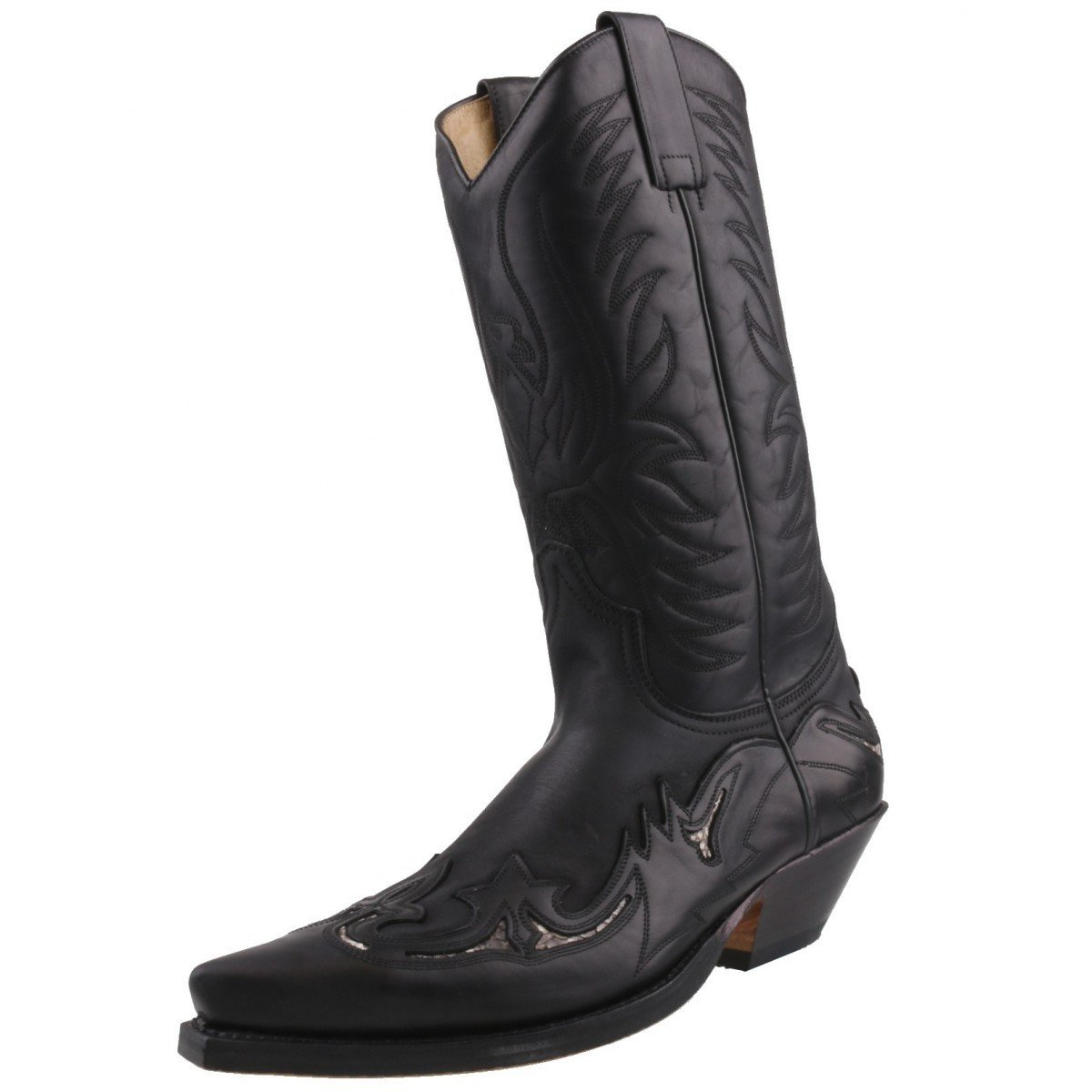7b1f2984d71c3 Sendra 3242 Cowboy Boots Black Leather Real Python Details Western Biker  Handmade Unisex  Amazon.co.uk  Shoes   Bags