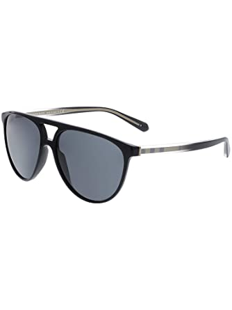 ce4e65bcddf Amazon.com  Burberry Men s BE4254 Sunglasses Black Grey 58mm ...