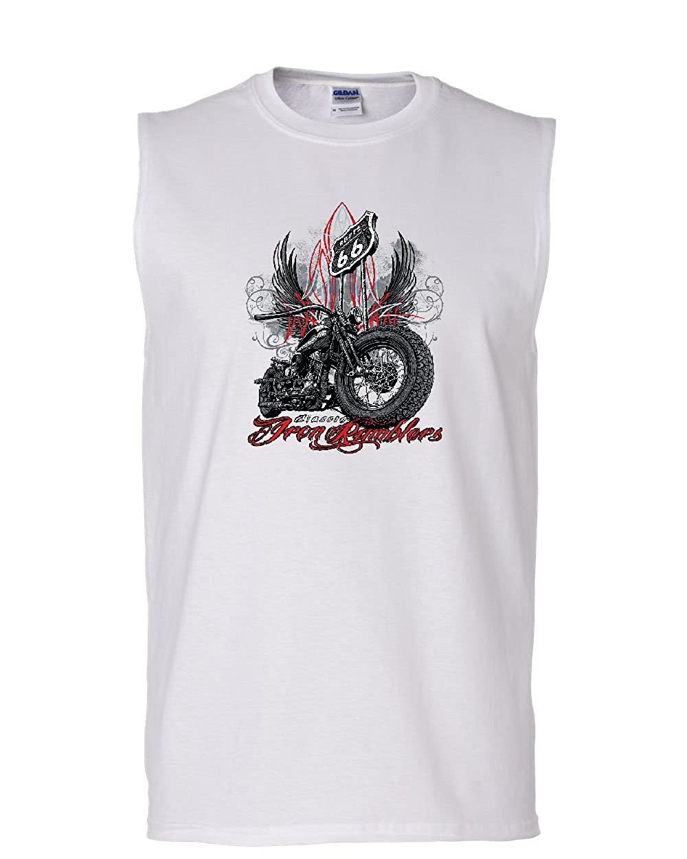 Route 66 Classic Iron Rumblers Muscle Shirt Chopper Bobber Biker MC Sleeveless