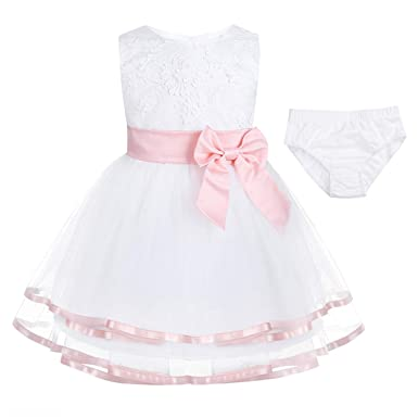 867c68fdc Newborn Toddler Girl Baptism Dress Baby Girls Princess Tulle Formal Dresses  1 Year Birthday Gift Kids