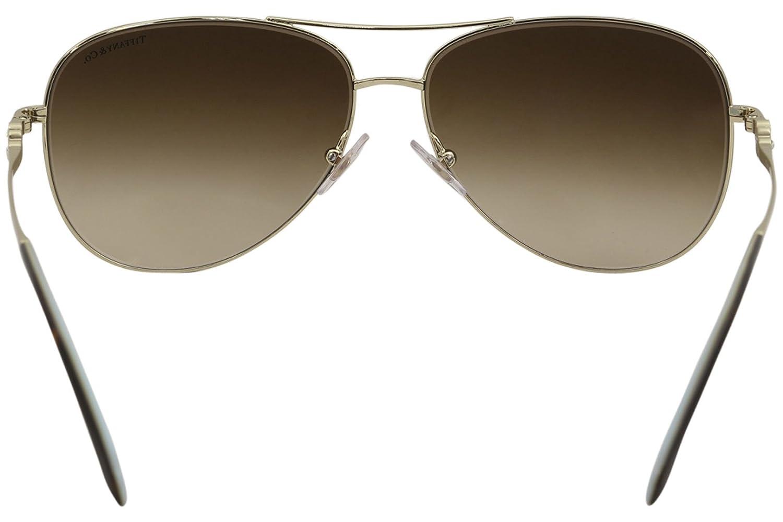 a7b0b0ab3b Tiffany   Co. Women TF3052B 59 Gold Brown Sunglasses 59mm at Amazon Women s  Clothing store