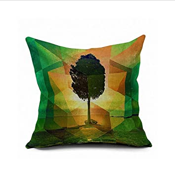 Grüner Baum geometrische Muster nach Hause Nähen von Textile ...