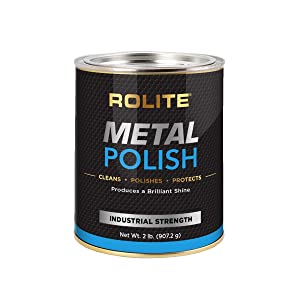 Rolite Metal Polish Paste – 2lb, Industrial Strength Polishing Cream for Aluminum, Chrome, Stainless Steel & Other Metals, 1 Pack
