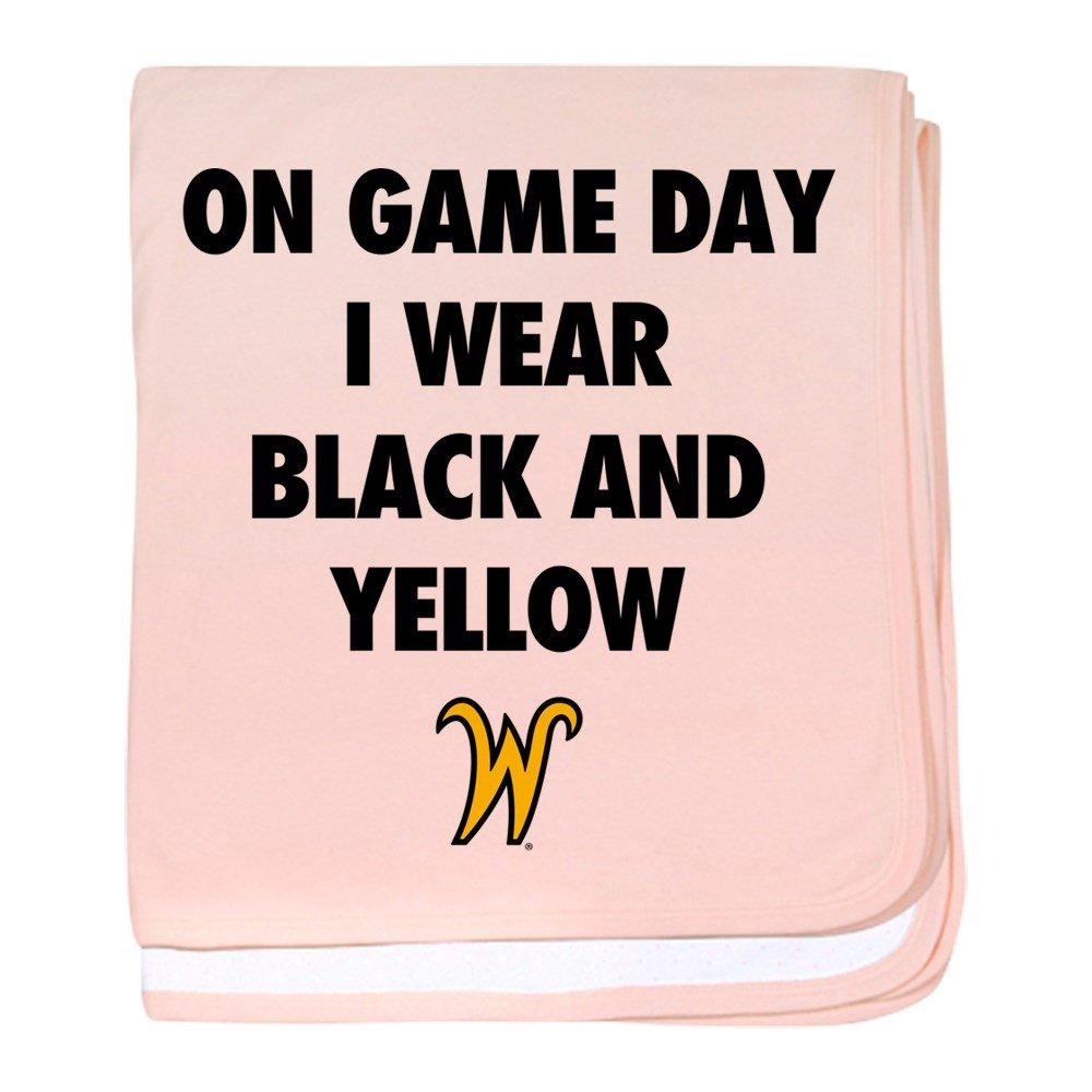 CafePress Wichita State On Game Day I Wear Blac - Baby Blanket, Super Soft Newborn Swaddle