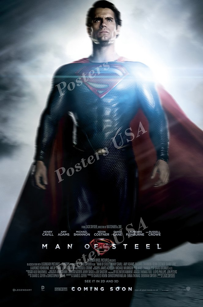 "Posters USA - DC Man of Steel Superman Movie Poster GLOSSY FINISH - FIL236 (24"" x 36"" (61cm x 91.5cm))"