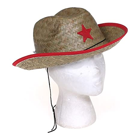 Image Unavailable. Image not available for. Color  Kids Straw Cowboy  Sheriff Hat w Star (2 Pack) a9f36bc6f3e8