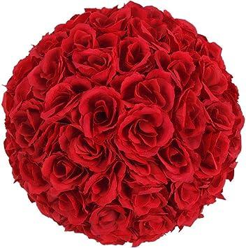 5 bolas de flores para centros de mesa de boda, 25 cm, decoración ...