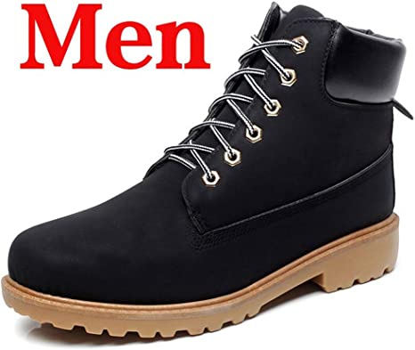 LHY Botas de Hombre Zapatillas de Invierno Botines de Nieve de PU al Aire Libre Botines cálidos Antideslizantes para Hombre Zapatos británicos Tallas Grandes 46: Amazon.es: Deportes y aire libre