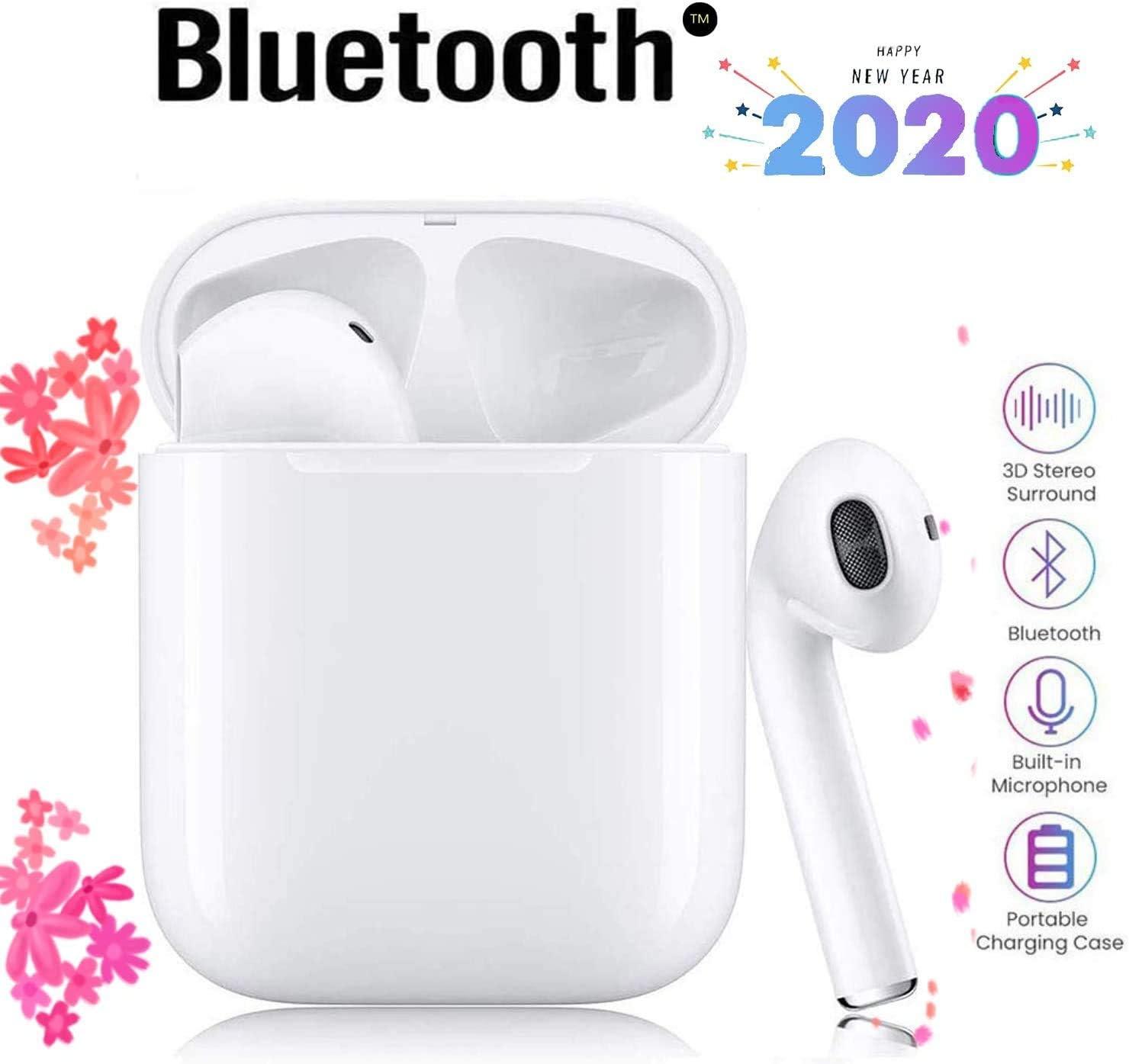 i12 Auriculares inalámbricos Bluetooth 5.0, Control táctil ...
