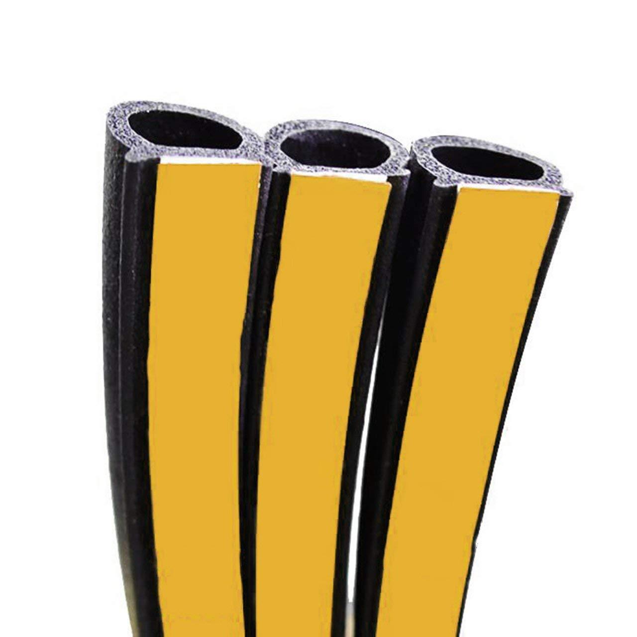 Nero Universal 4Meter Big D Type Filler Adesivo per Auto Guarnizione in Gomma Isolamento Acustico Car 4M Guarnizione per Porta Strip Weatherstrip Jasnyfall