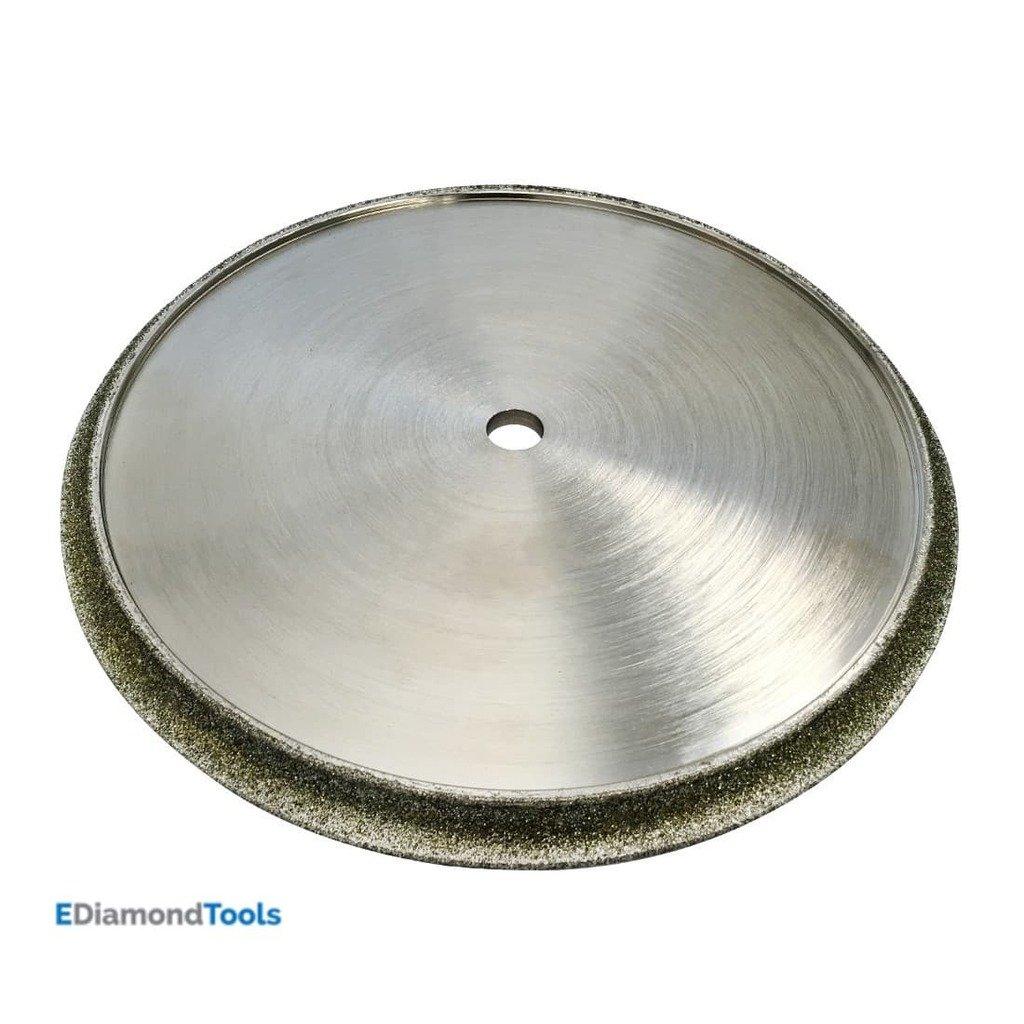 Diamond Profile Wheel for Granite, Marble, Travertine, and Porcelain for Tile Saws - 7'' Diameter Shape B - 3/8'' Radius Demi-Bullnose