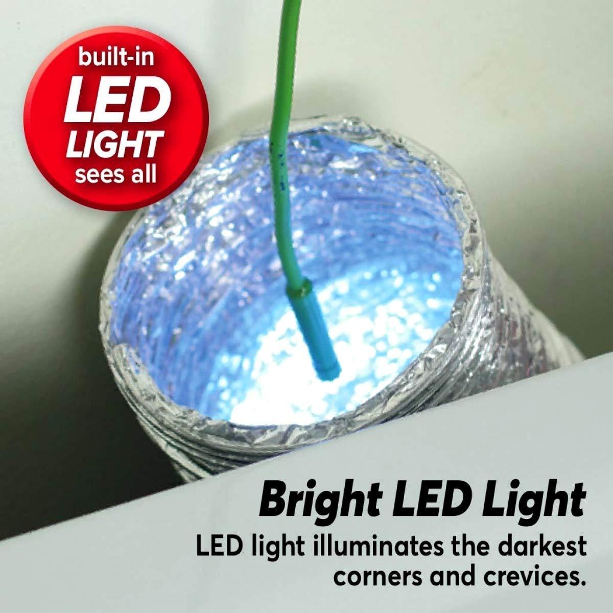 Impermeabile periscopio con Luce LED A-lee Lizard Cam Endoscopio Portatile con Schermo LCD a Colori da 2,4 Pollici