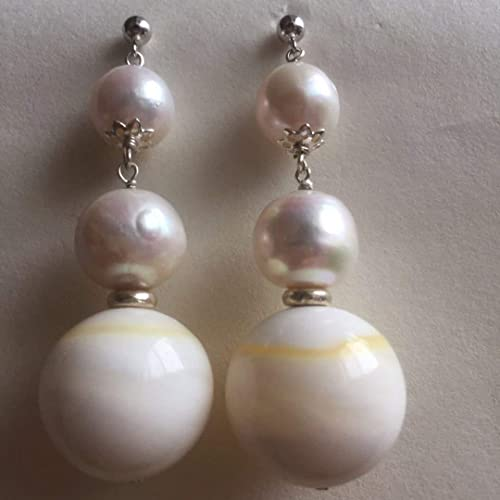 69f392e77458 Pendientes pendientes medievales grandes de perlas grandes y redondas