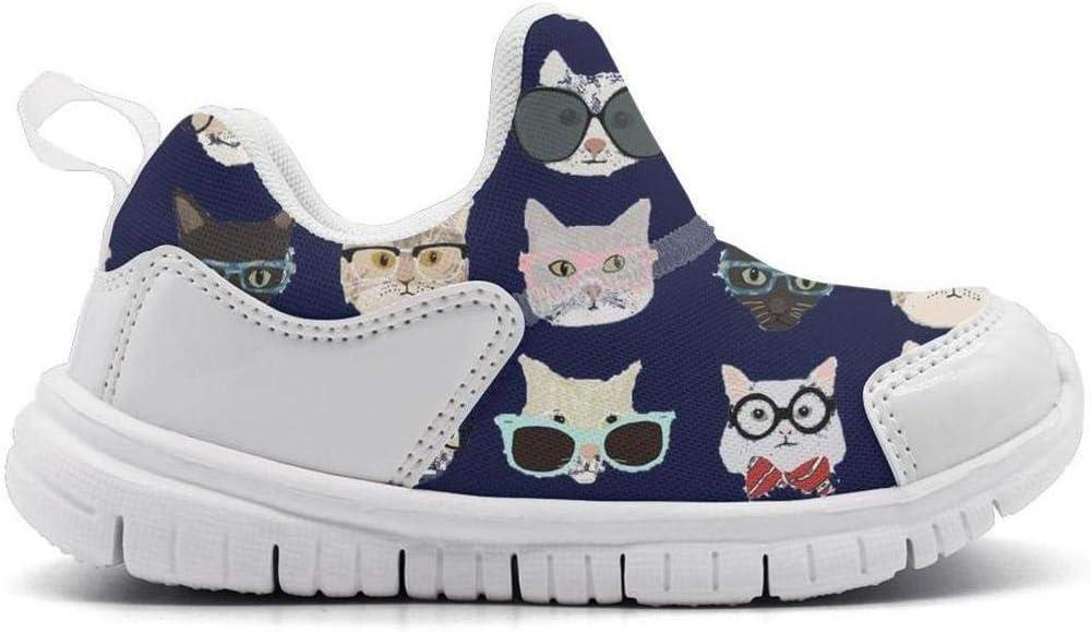 ONEYUAN Children Nerd Cat Kid Casual Lightweight Sport Shoes Sneakers Running Shoes