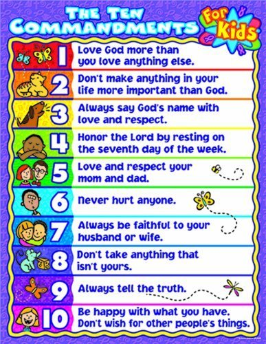 10 commandments for kids - 8