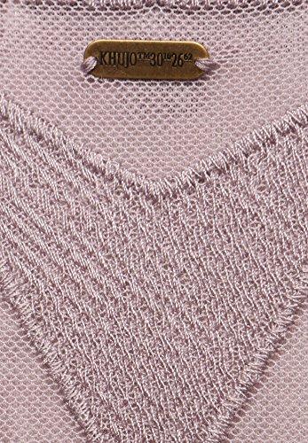 Cuello Mujer Camiseta 487lavende Mangas Sin Redondo Lila Khujo Para qtfUFq