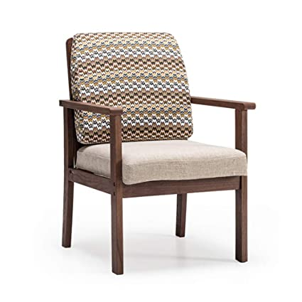 Amazon.com: Dining Chairs Seat Chair Solid Wood Armrest ...