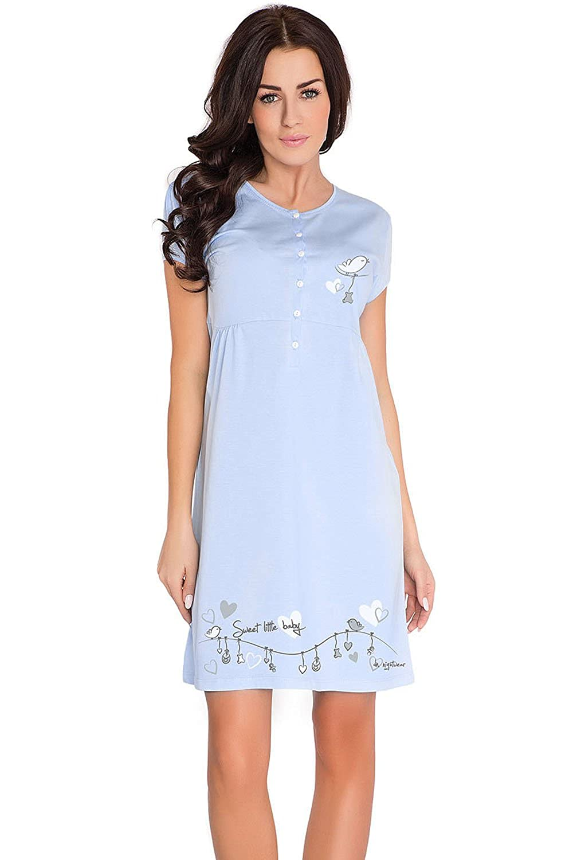 dn-nightwear TCB.7029 Subtle Feminine Maternity//Nursing Nightdress Made in EU