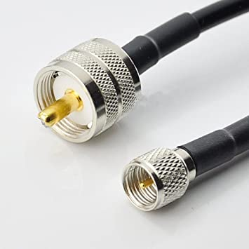 Generic 1 pc 3 pies UHF PL259 macho a mini UHF macho Plug Coaxial Jumper Cable Pigtail RG58 1 m: Amazon.es: Electrónica