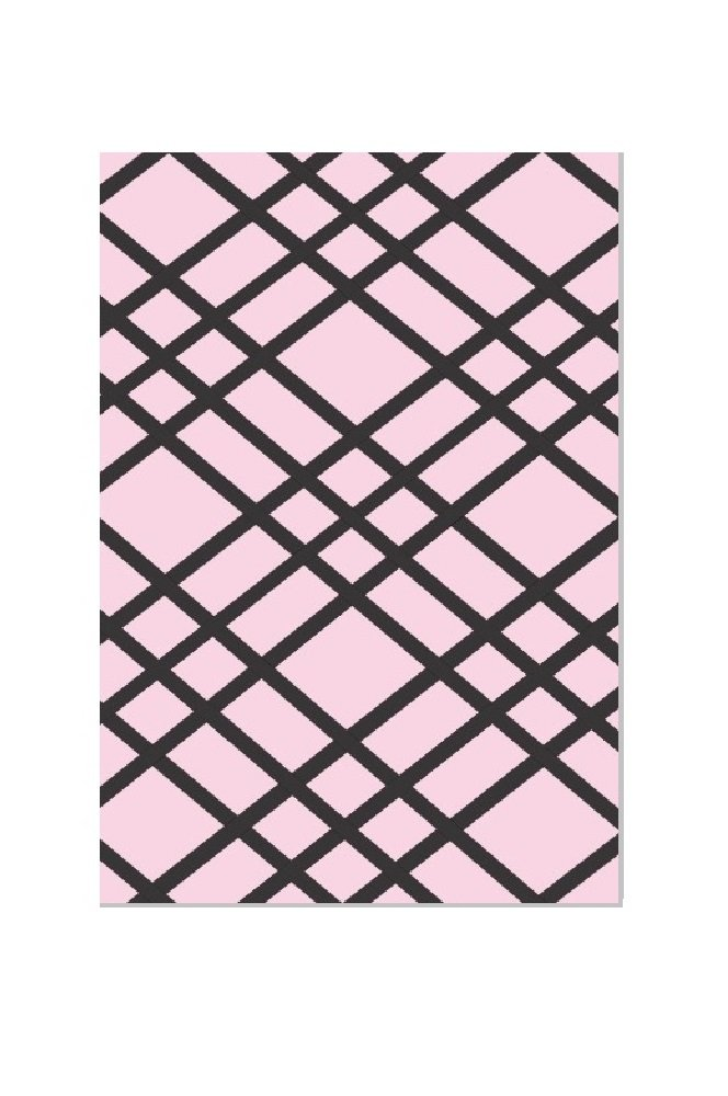 Bulletin-Memo Board and Picture Frame: Pink and Black (Medium (18'' x 24''))