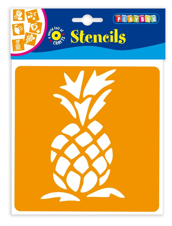 Playbox 145 x 145 Millimetri Frutta Stencil (6 Pezzi)