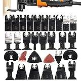 WXLAA Saw Blades Kit for FEIN Makita Bosch Milwaukee Multitool 68Pcs