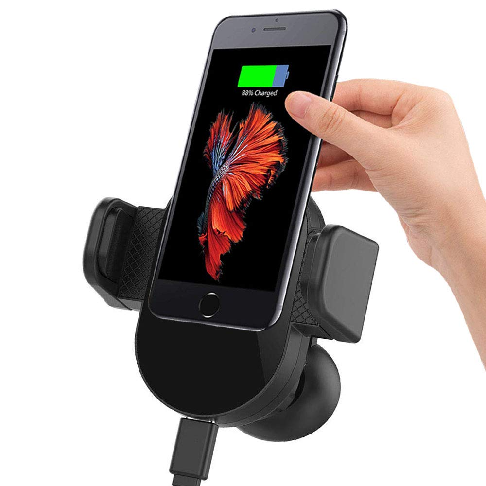 Universal Air Vent Mount Car Phone Holder Mount with Electric Auto Lock Compatible for iPhone Models: X/Max XR/8/7 Plus & Galaxy Models: S 9/8 Plus, Note 9/8