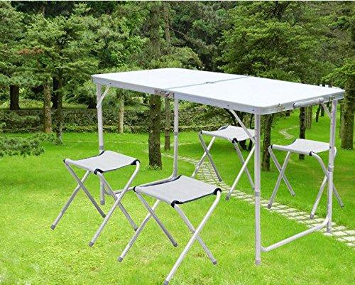 camping klapptisch mit stühlen