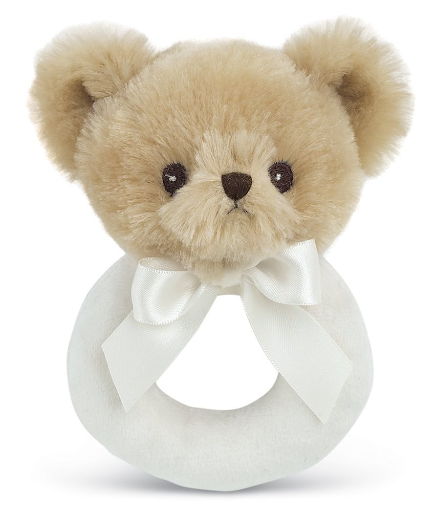 Bearington Baby Lil' Teddy Plush Stuffed Animal Teddy Bear Soft Ring Rattle 5.5 Bearington Collection