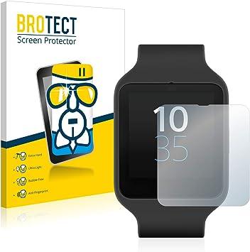 BROTECT Protector Pantalla Cristal Compatible con Sony Smartwatch ...