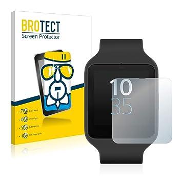 BROTECT Cristal Protector Pantalla Compatible con Sony Smartwatch 3 SWR50 Vidrio Gran Dureza 9H AirGlass