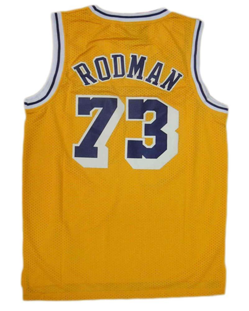 ,2XL190~195cm S-2Xl Herren Mesh Basketball Swingman Trikot /Ärmellos Sport Weste Top HS-ZHAOPAN Dennis Rodman # 73 Herren Basketball Trikot Los Angeles Lakers