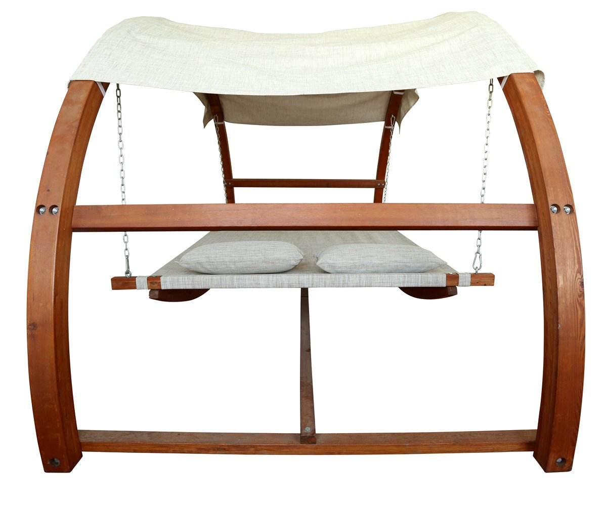 Amazon.com: Leisure Season SBWC402 Swing Bed with Canopy: Patio ...
