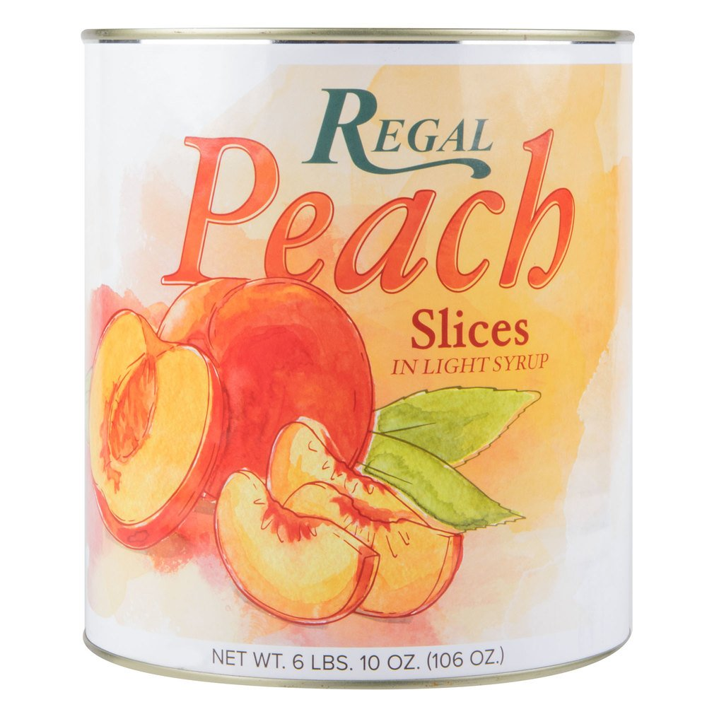TableTop King Sliced Peaches in Light Syrup - #10 Can