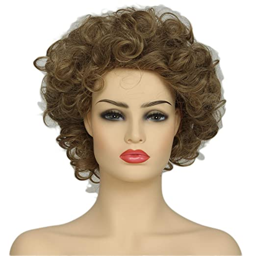 Amazon.com  Sandy Grease Wig Xcoser Grease Character Hairs Golden Brown  Curly Short for Women  Clothing d2edd7421d6e