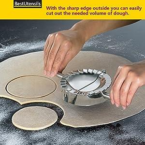 Best Utensils Stainless Steel Ravioli Mould Pierogi Dumpling Maker Wrapper Pastry Dough Cutter Kitchen Accessories