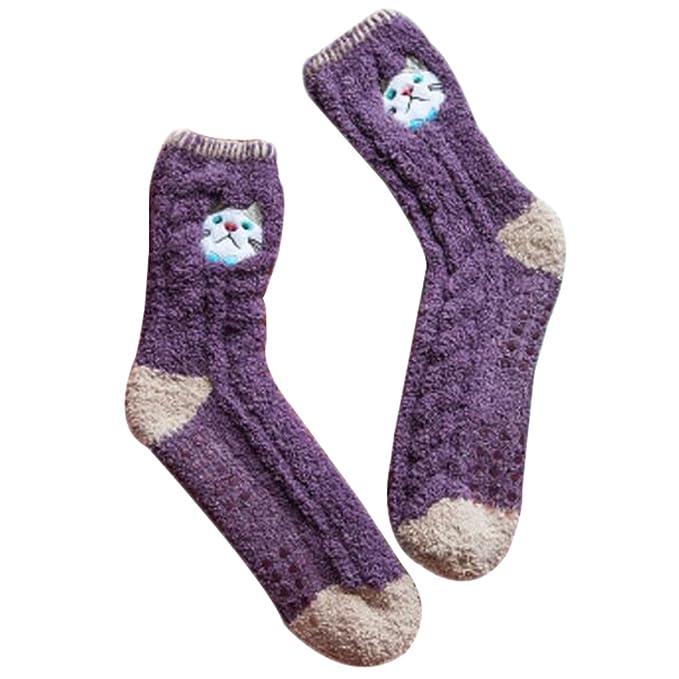 Fuzzy suaves para dormir piso de los calcetines de la historieta del ...
