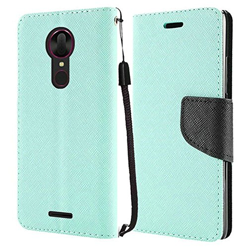 Leather Fitted T-mobile Case - Coolpad Revvl Plus case, Luckiefind Premium PU Leather Flip Wallet Credit Card Cover Case, Stylus Pen, Screen Protector Accessories (Wallet Teal)