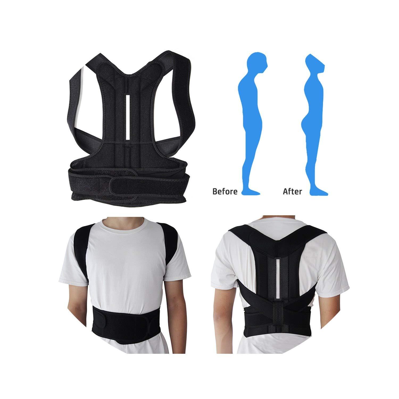 Back Posture Corrector Adult Back Support Shoulder Lumbar Brace Health Care Support Corset Back Belt,S