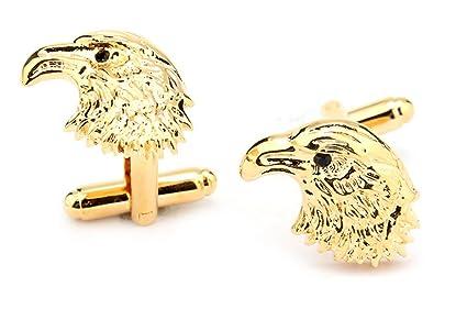 Águila Gudeke mancuernas personalizadas de los hombres de animales de la cabeza del manguito