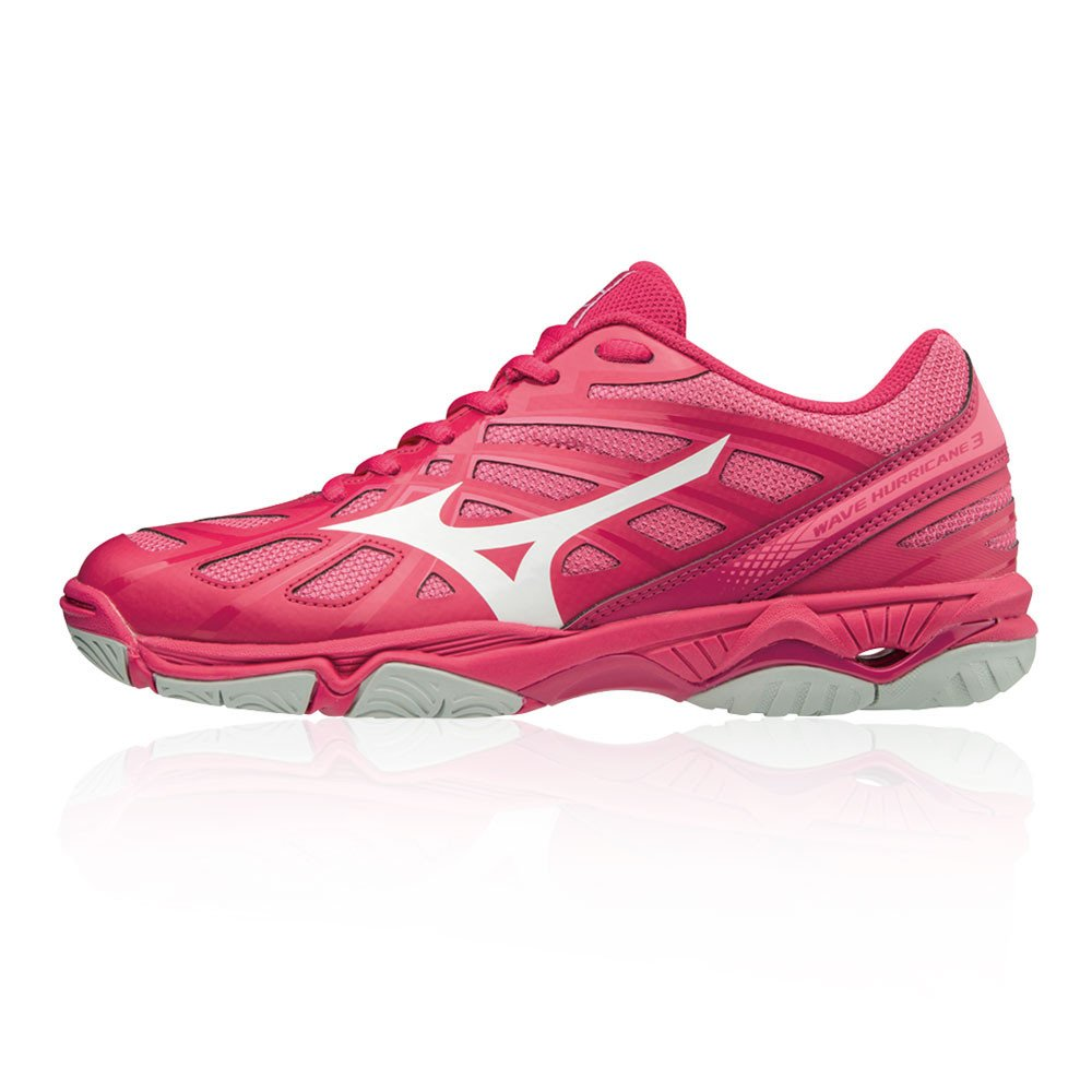 Mizuno Wave Hurricane 3, Zapatillas para Mujer 39 EU Rosa (Azalea/Whtt/Camelliarose 001)
