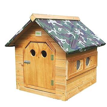 YANQ Casa para Perros, Clima al Aire Libre, Impermeable, casa para Mascotas,