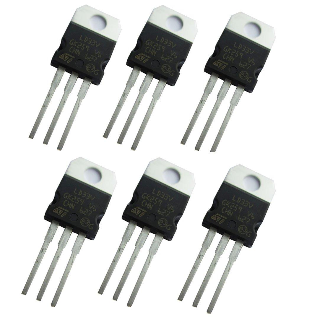Bridgold 10pcs LM1117T-3.3V LM1117 LM Low Dropout Positive Voltage Regulator 1A,TO-220.