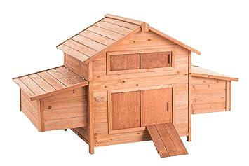 CLP Holz-Hühnerkäfig mit zwei Nistkästen   Hühnerhaus aus Tannenholz ...