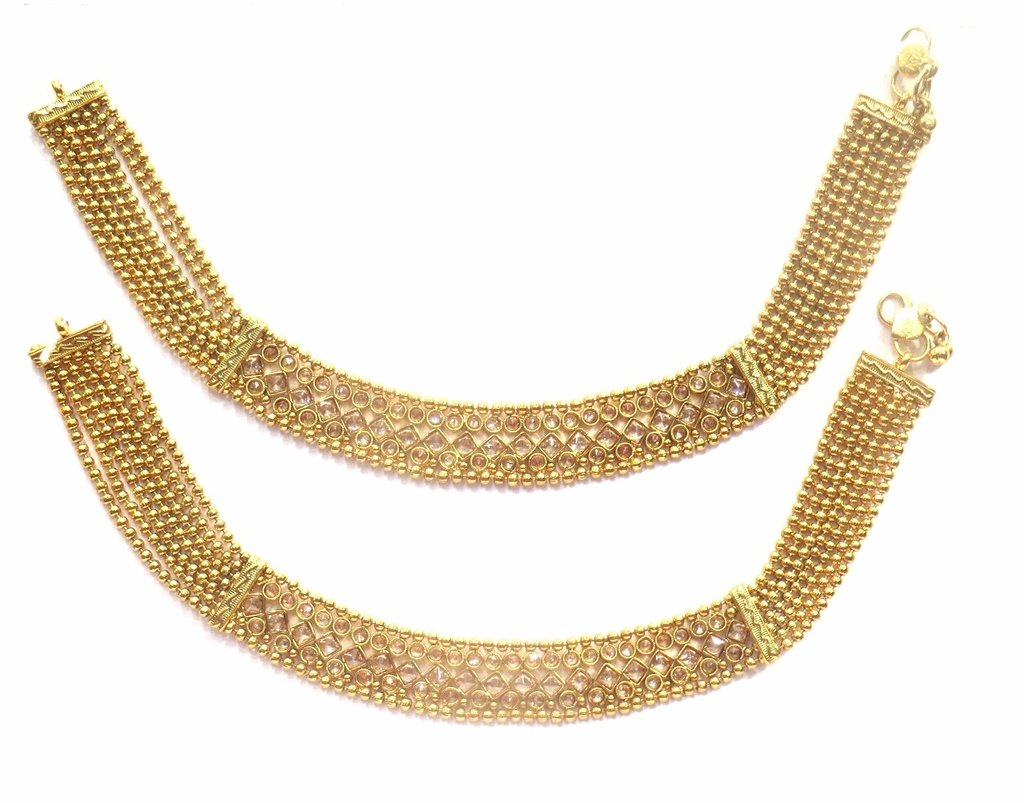 Jewelshingar Jewellery Exclusive Payal /Anklet /Pajeb For Girls ( 33915-payal )