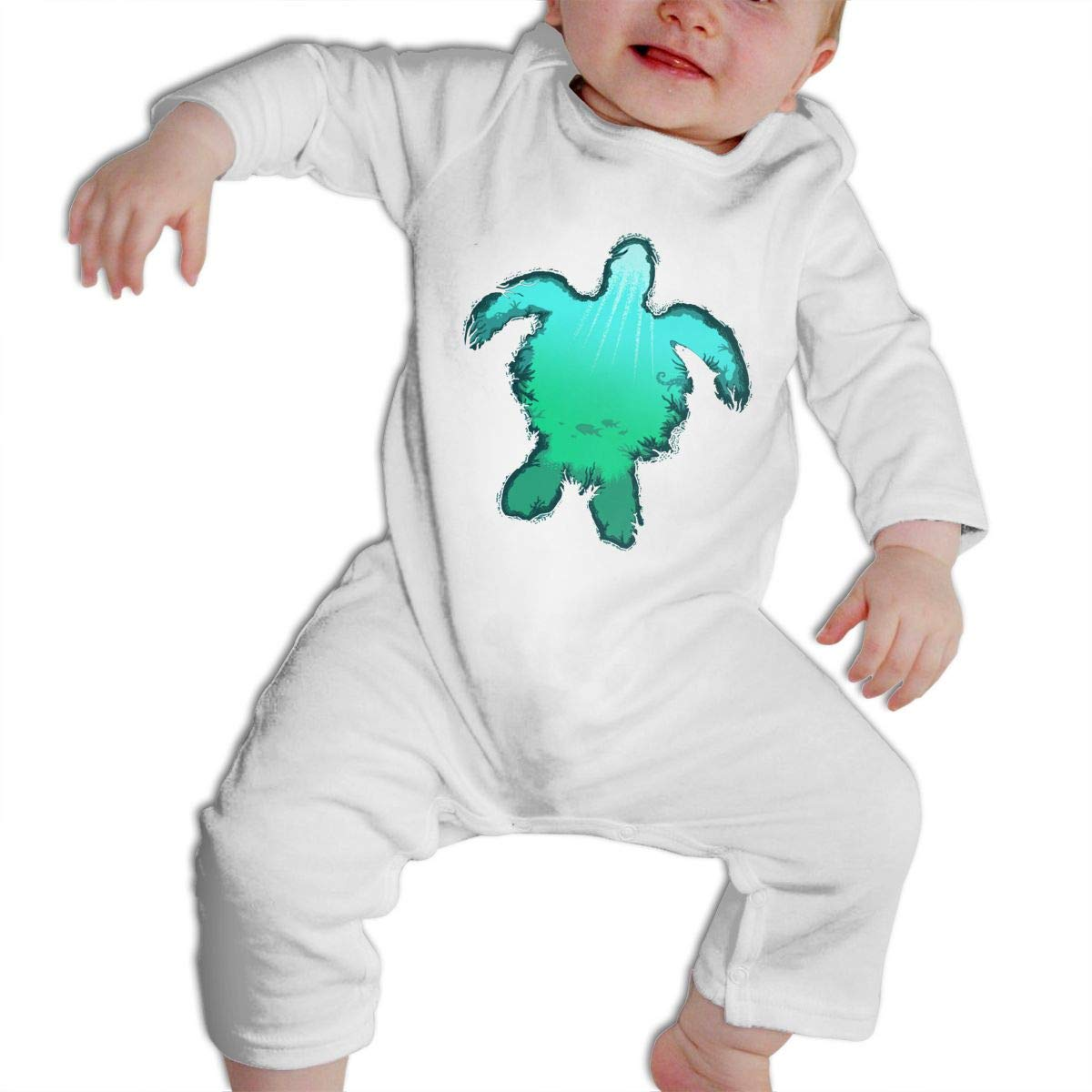 Sea Turtle Unisex Long-sleeve 6M~2T Cute Baby Clothes Baby Crawler
